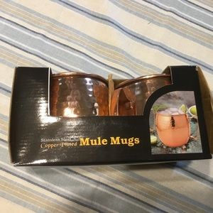 Set of 2 Moscow Mule Mugs Copper Plated